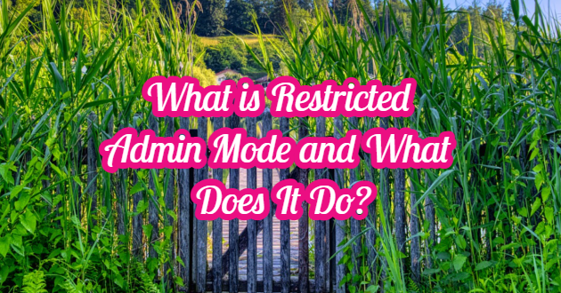 What is Restricted Admin Mode and What Does It Do?