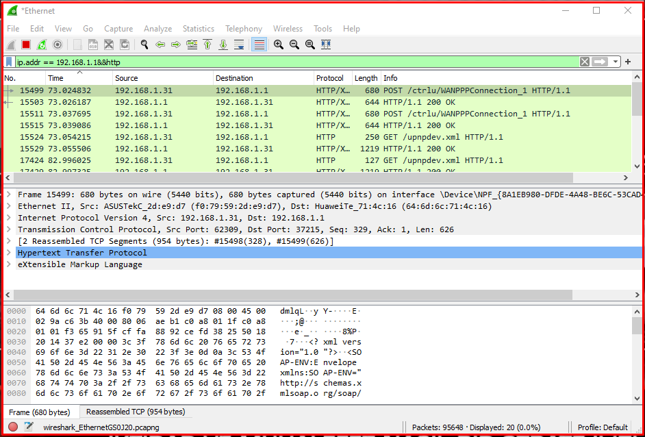 Monitoring Network Traffic on the Modem