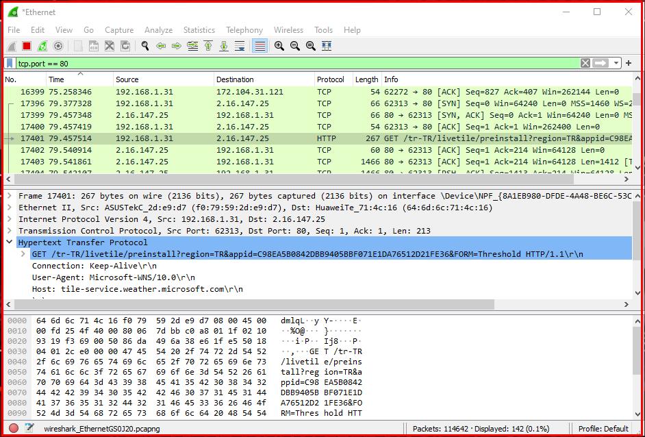 Examining Web Server HTTP Traffic