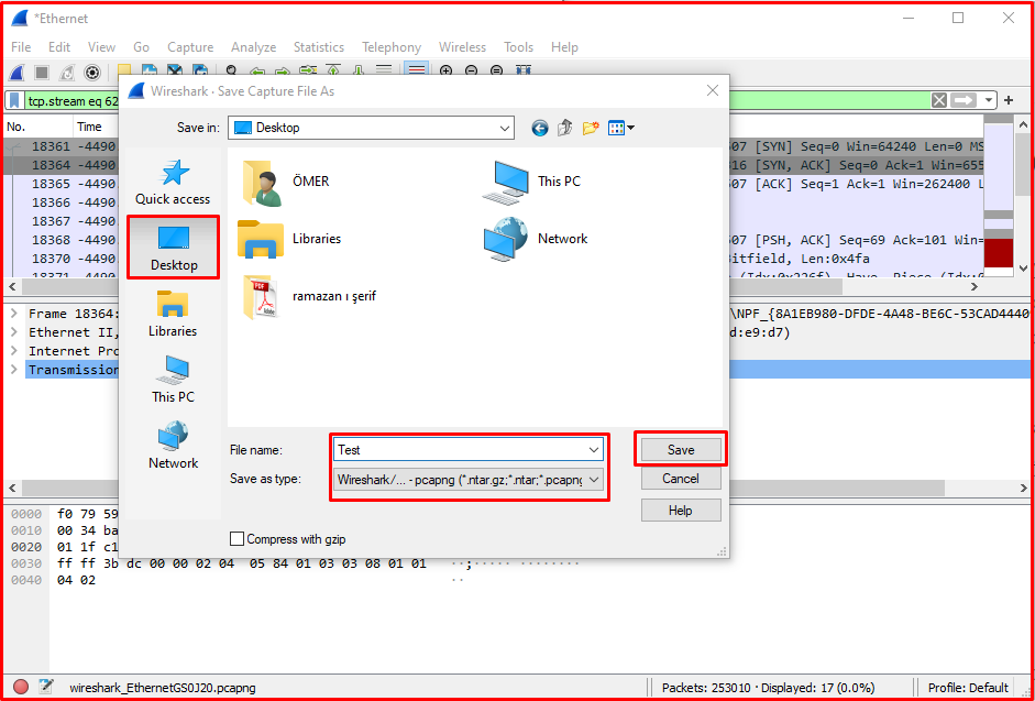 Recording Traffic with WireShark