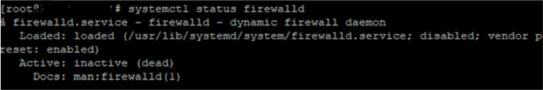 systemctl status firewalld