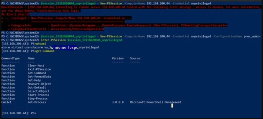Restricted Powershell Session