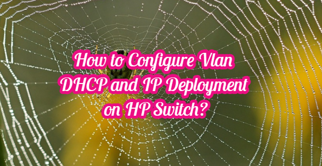 How to Configure Vlan DHCP and IP Deployment on HP Switch?