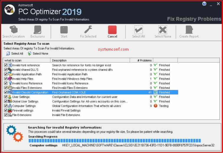 Delete the registration to fix it to end the Drvinst.exe working error.