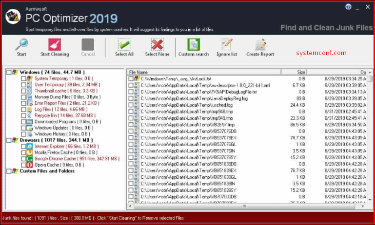 Clean junk files to end the Drvinst.exe working error