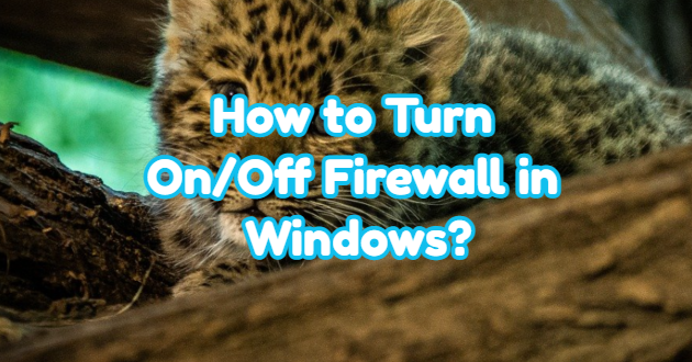 How to Turn On/Off Firewall in Windows?