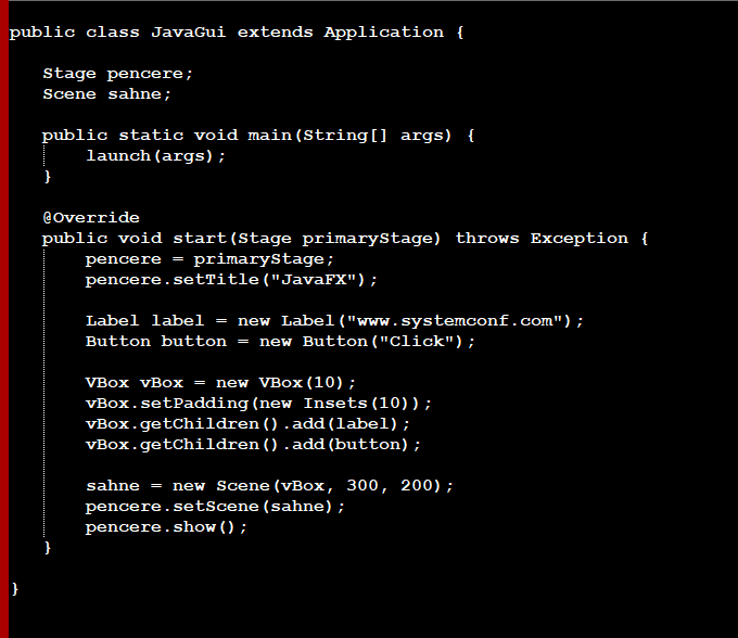 Using JavaFX