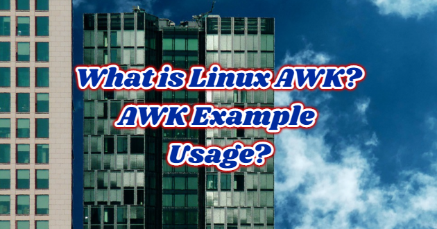 What is Linux AWK? AWK Example Usage?