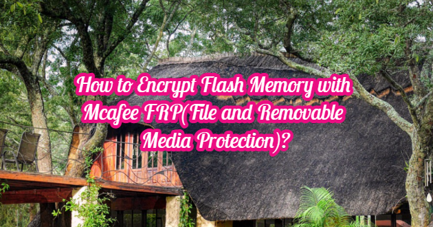 How to Encrypt Flash Memory with Mcafee FRP(File and Removable Media Protection)?