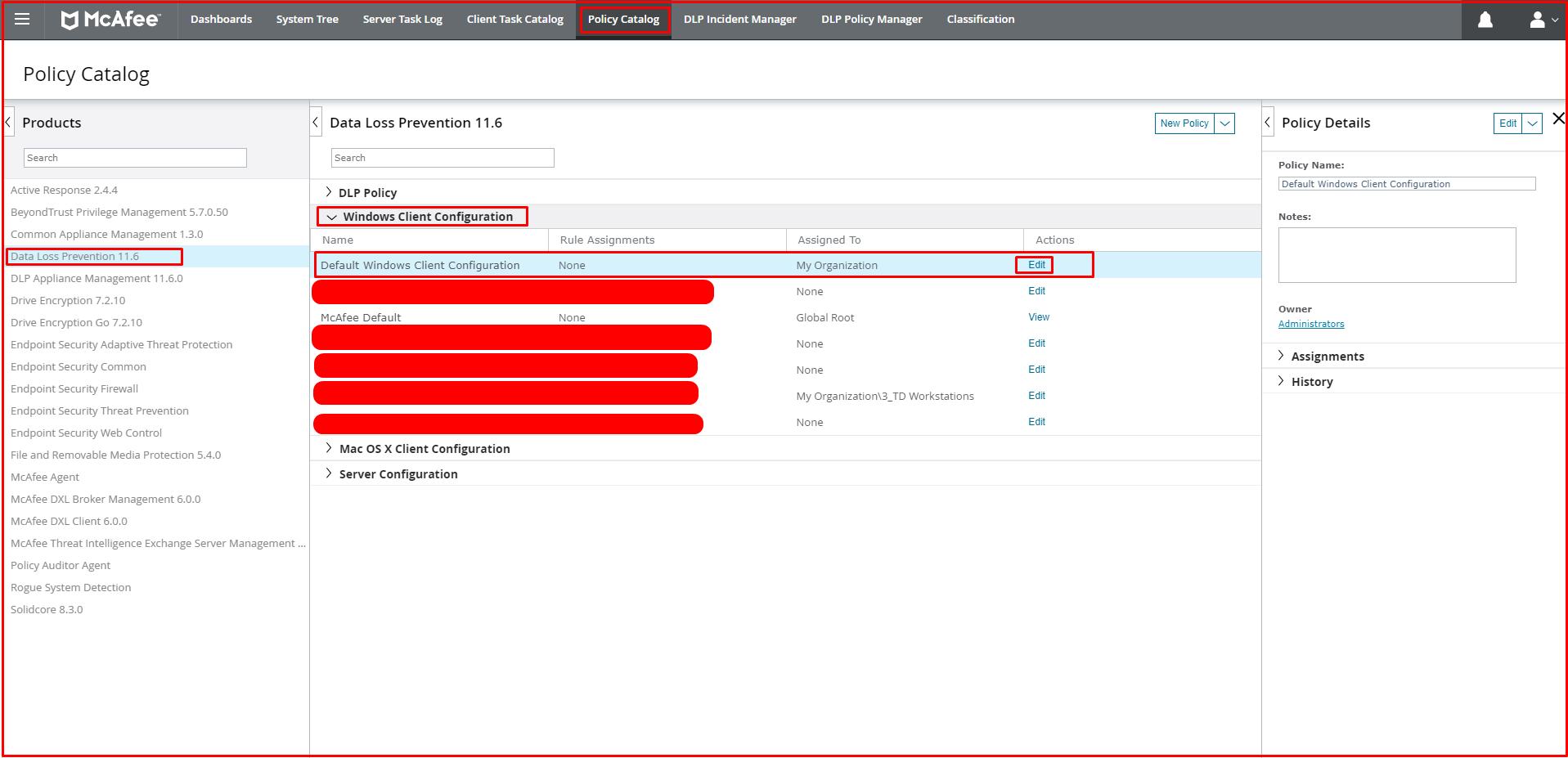 Default Windows Client Configuration