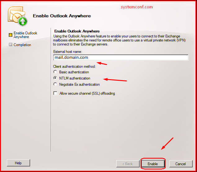 Enable Outlook Anywhere