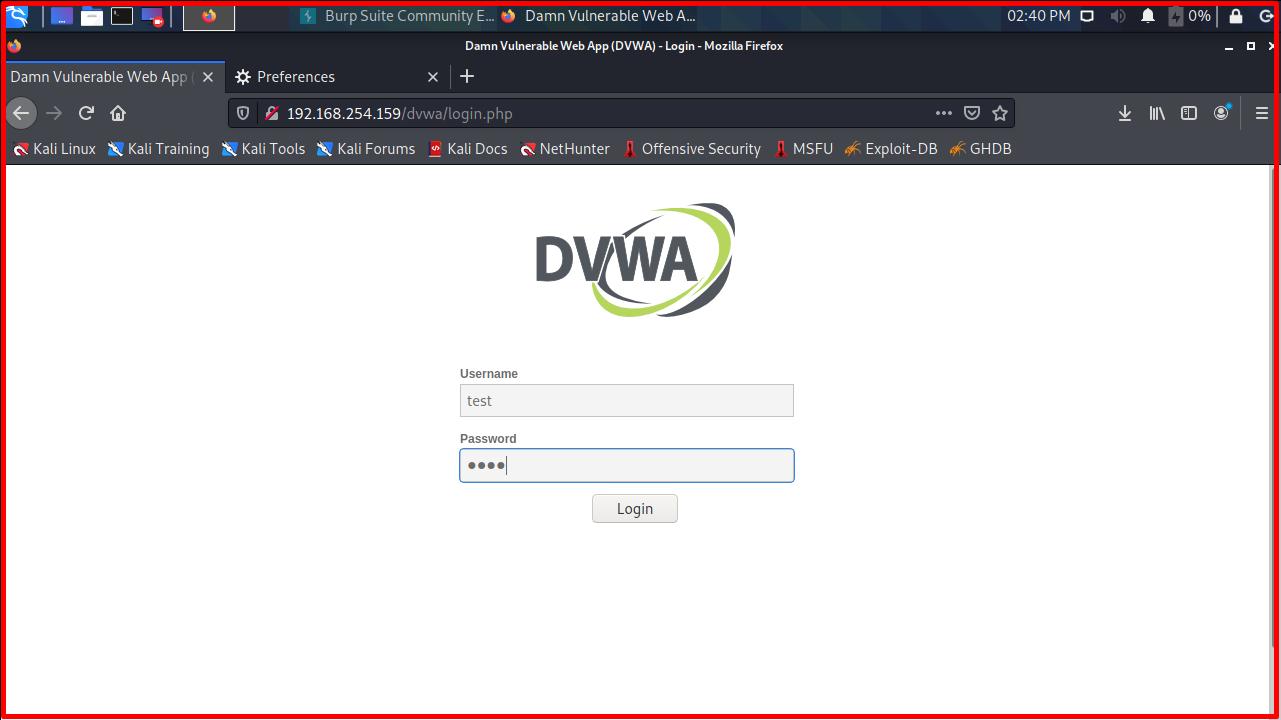 Damn Vulnerable Web Application (DVWA)
