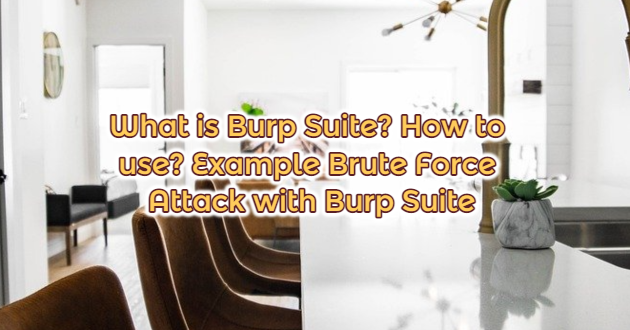 What is Burp Suite? How to use? Example Brute Force Attack with Burp Suite
