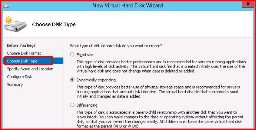 Hyper-V Virtual Disk Types