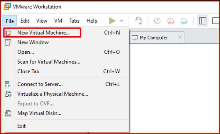 File> New Virtual Machine