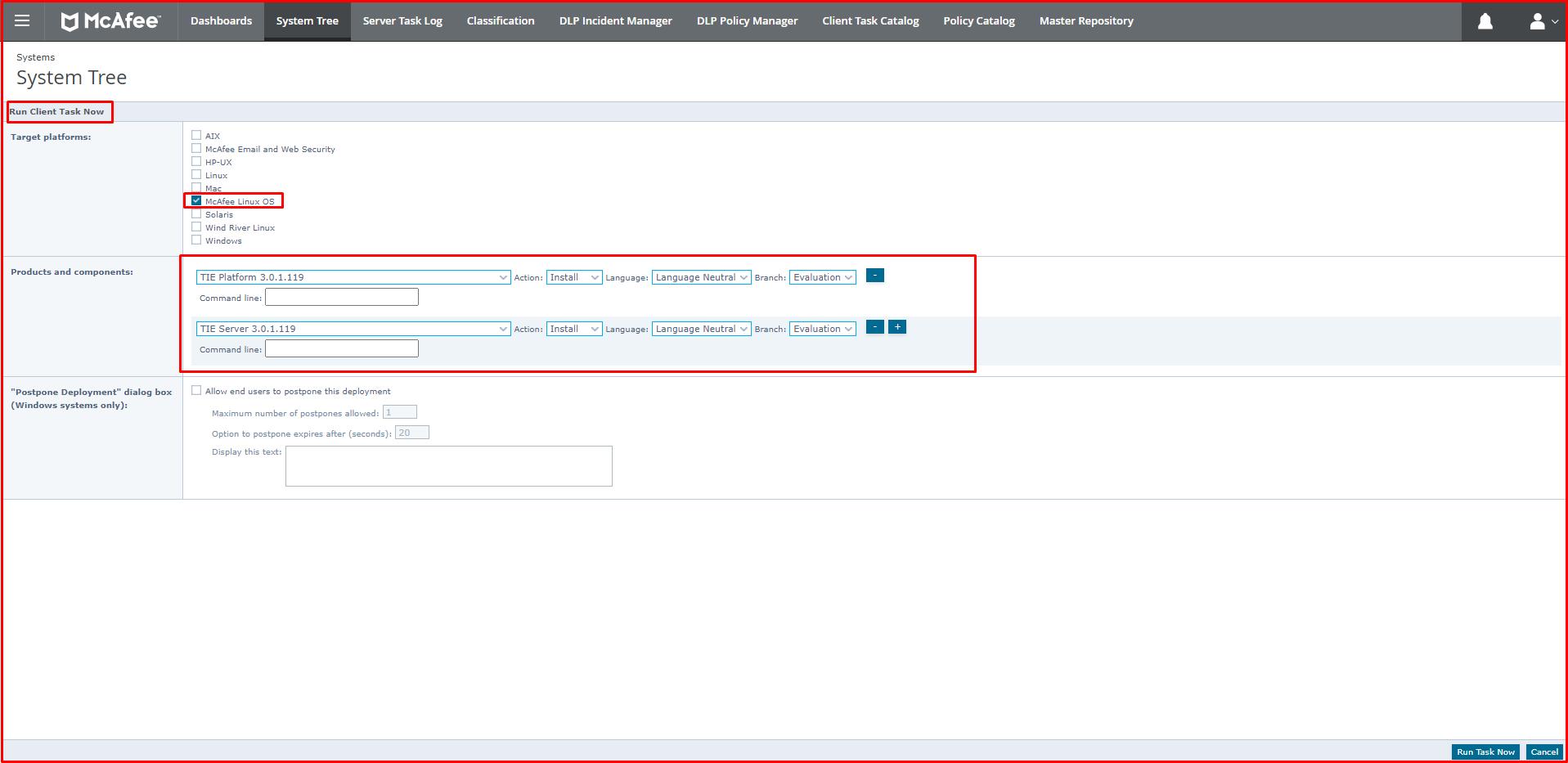 """""""TIE Platform 3.0.1.119"""" and """"TIE Server 3.0.1.119"""""""