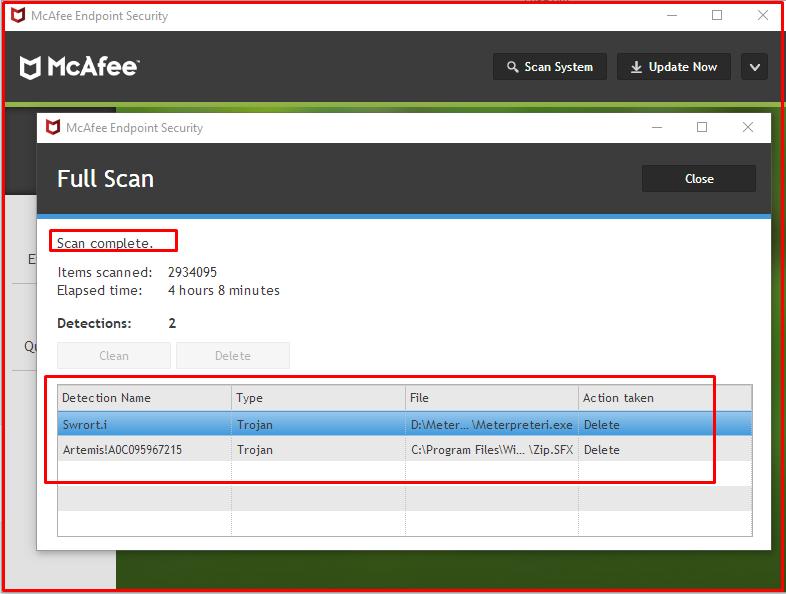 """""""Full Scan"""" scan result"""